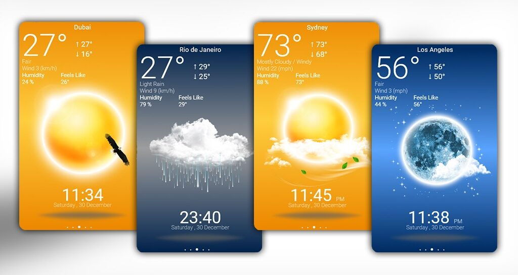 Modern Rainmeter Weather App