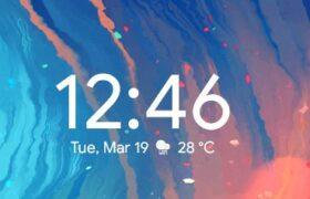 android style rainmeter clock