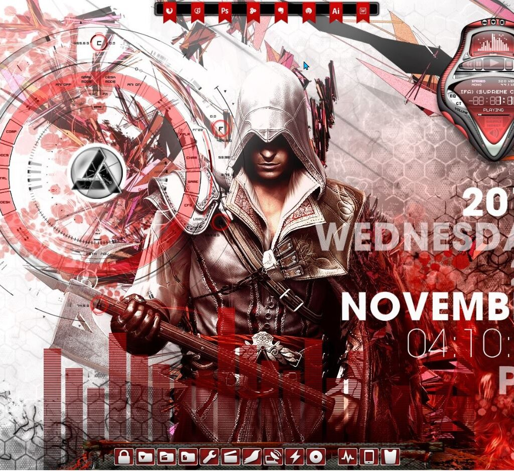 Assassins Creed Rainmeter Theme
