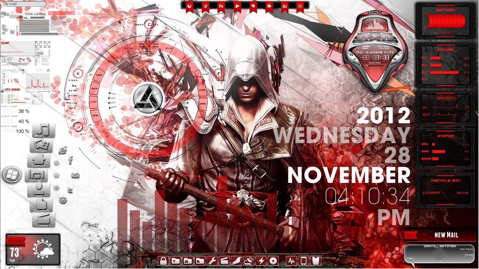 Assassins Creed Rainmeter Theme