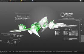 FlyAway Rainmeter Theme HUD