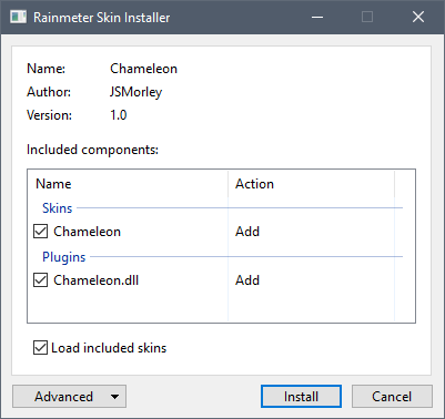 installing rainmeter skin