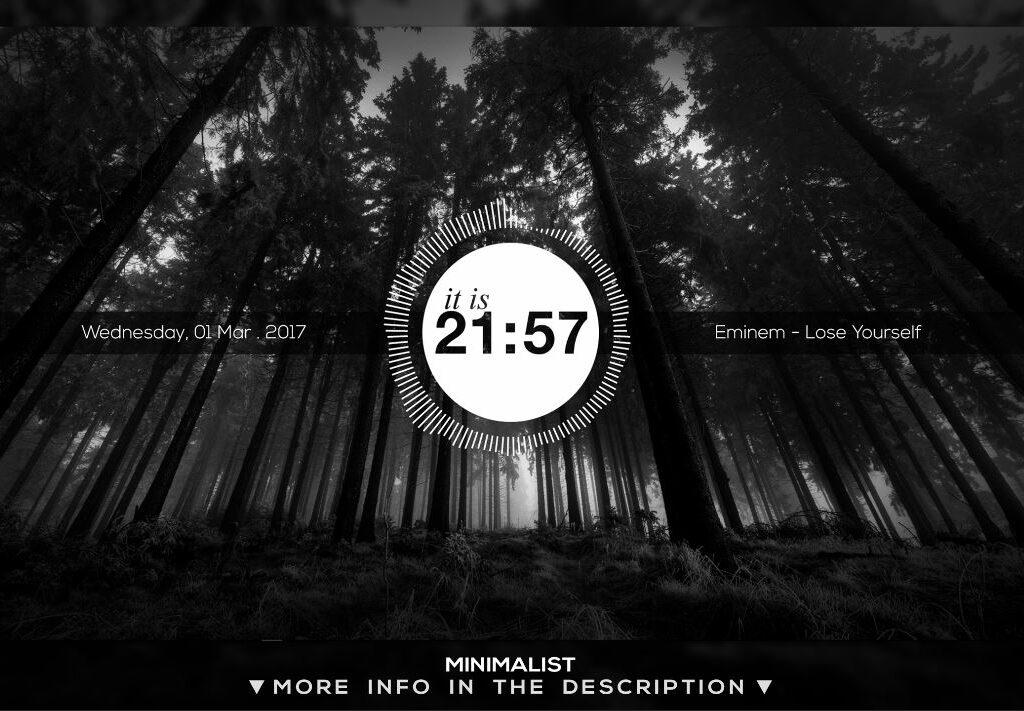 Minimalist Rainmeter Theme HUD 1.3