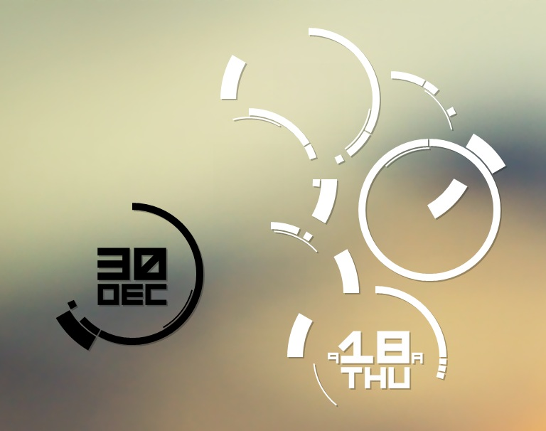 PolarPrecise Clock for Rainmeter
