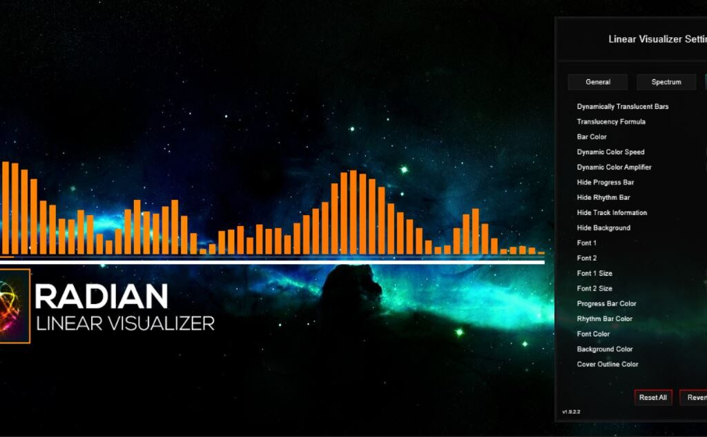 Radian Linear Rainmeter Visualizer 1.9.3