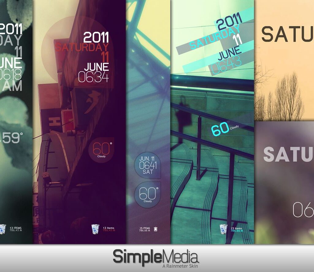 Simple Media Rainmeter Theme 1.1