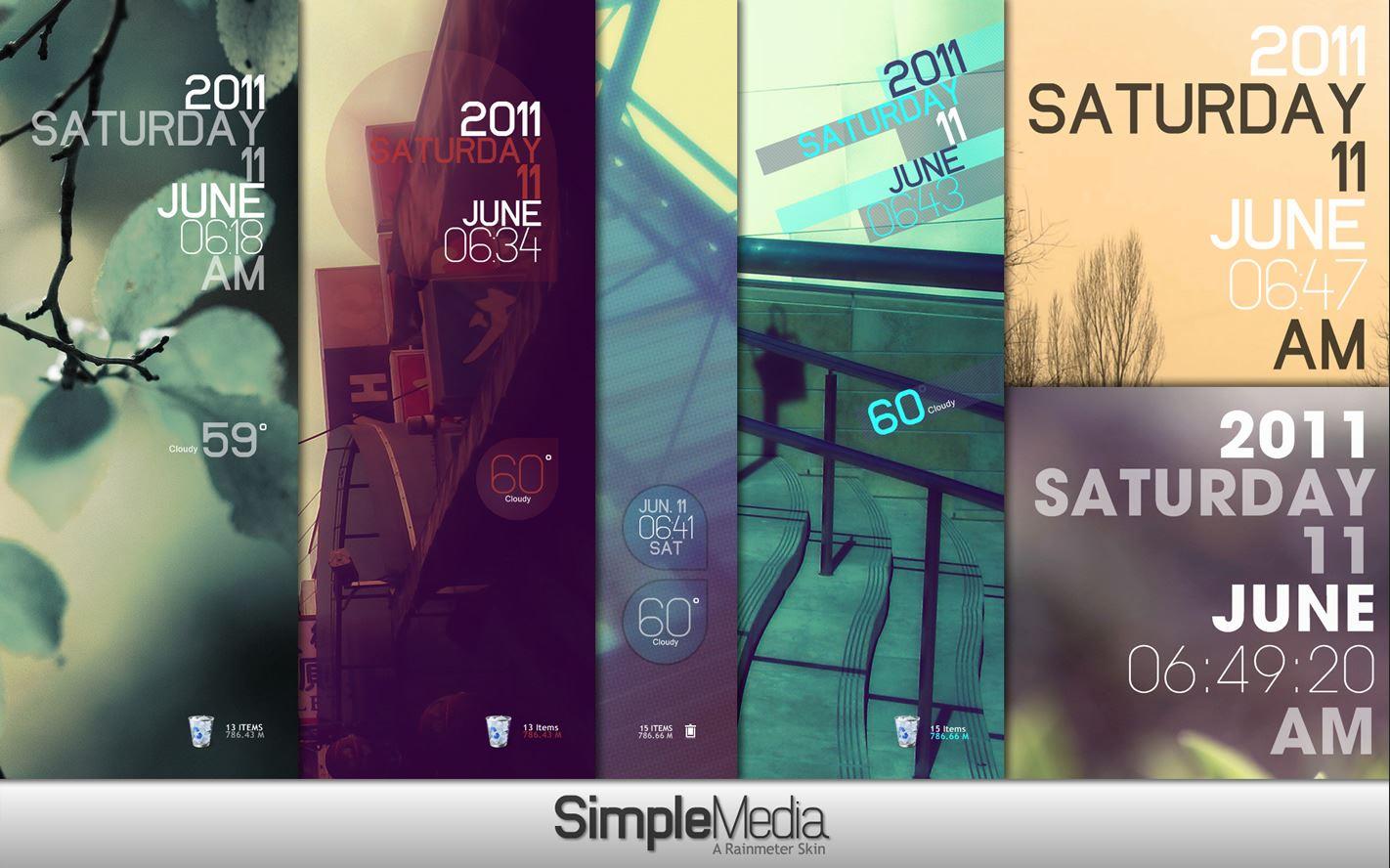 Simple Media Rainmeter Theme 1.1