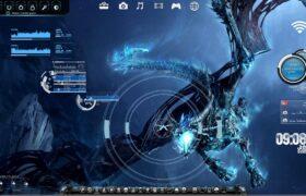 Targeting The Bone Dragon Rainmeter Desktop