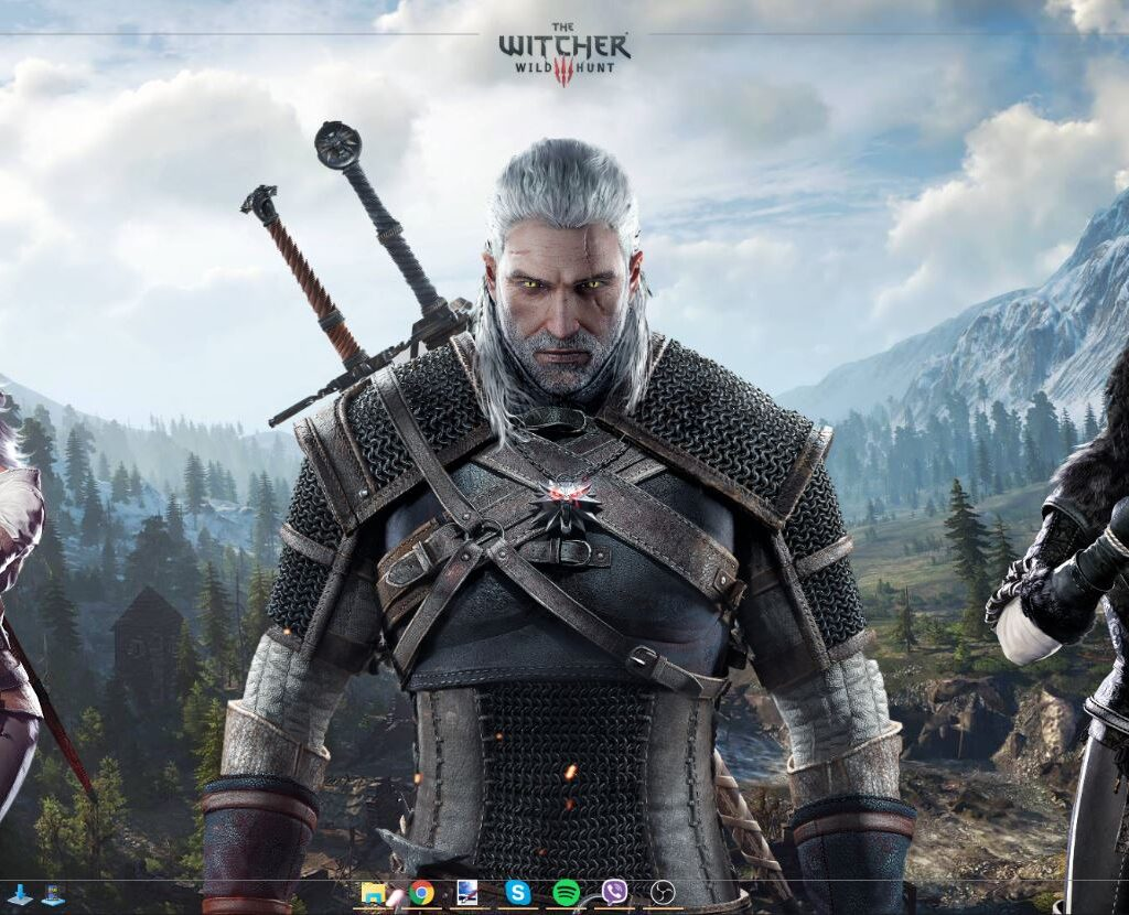The Witcher 3 Rainmeter Desktop V1.1