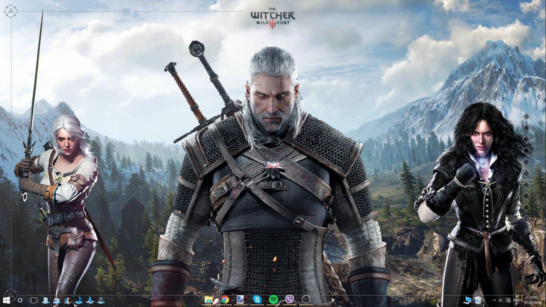 The Witcher 3 Rainmeter Desktop V1.1
