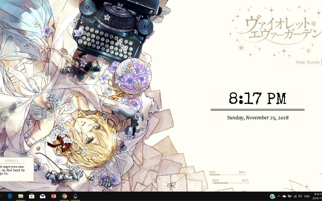 Violet Evergardern Rainmeter Theme