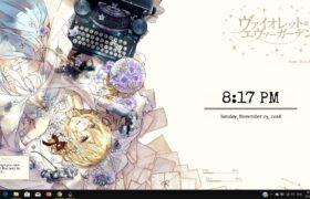 Violet Evergardern Rainmeter Theme