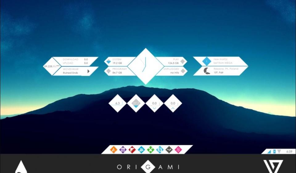 Origami Theme for Rainmeter [1.0]