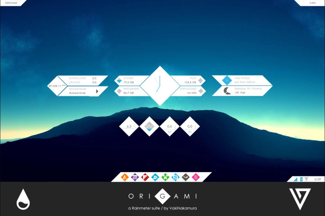 Origami Theme for Rainmeter [1.0]